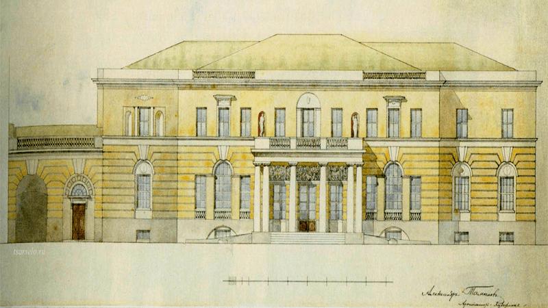 Проект архитектора А.Таманова, нач. ХХ века