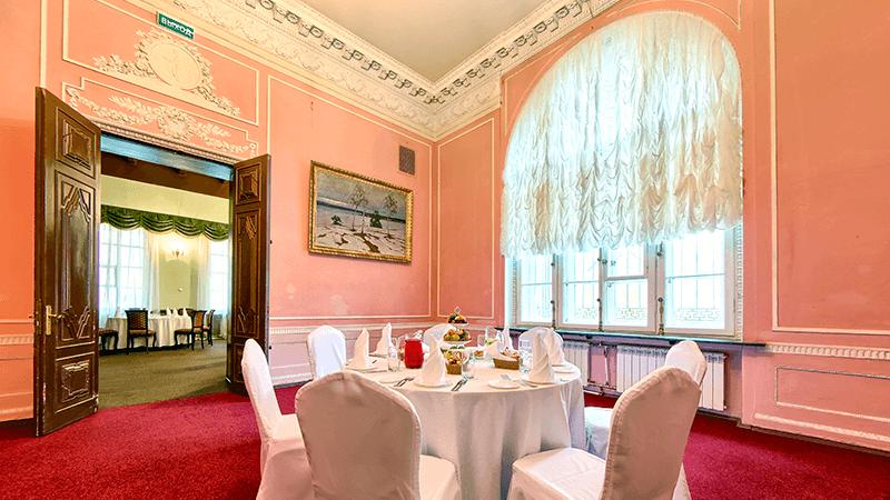 Розовая гостиная ресторана «Особняк Кочубея»